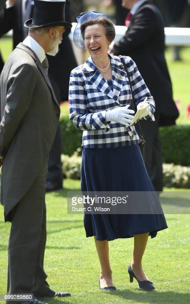 Prince Michael of Kent and Princess Anne the Princess Royal attend Royal Ascot 2017 at Ascot Racecourse on June 21 2017 in Ascot England