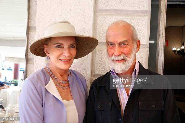 Prince Michael of Kent and Princess MarieChristine of Kent attend an evening gala organized at the Hotel Monaco in Venice by the Bolivian artist...