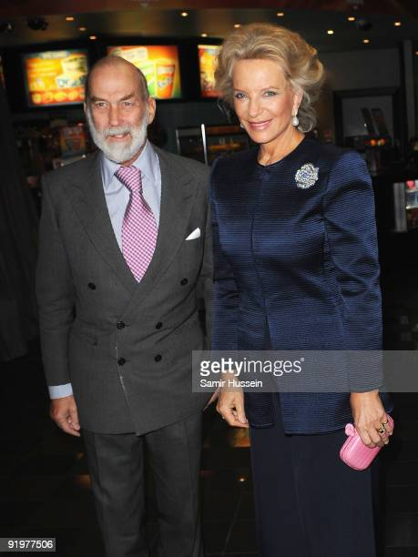 Prince Michael of Kent and Princess Michael of Kent arrive for the premiere of 'From Time To Time' during the Times BFI 53rd London Film Festival at...