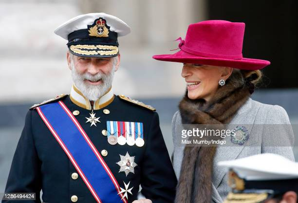 Prince Michael of Kent and Princess Michael of Kent attend a National Service of Commemoration to mark the Bicentenary of the Battle of Trafalgar and...