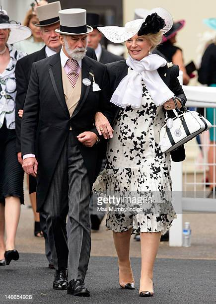 Prince Michael of Kent and Princess Michael of Kent attend Ladies Day during Royal Ascot at Ascot Racecourse on June 21 2012 in Ascot England
