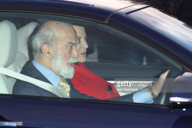 Prince Michael of Kent and Princess Michael of Kent depart Buckingham Palace after the Queen's Christmas Lunch on December 19 2018 in London England
