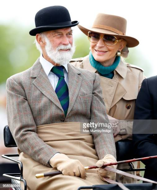 Prince Michael of Kent and Princess Michael of Kent seen carriage driving as they take part in The Champagne LaurentPerrier Meet of the British...