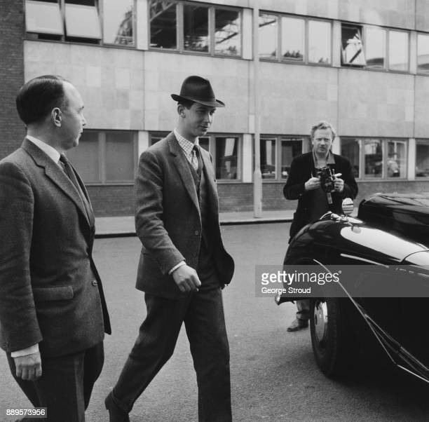 Prince Michael of Kent arrives at Heathrow Airport from Belfast London UK 22nd May 1961