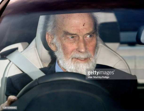 Prince Michael of Kent attends a Christmas lunch for members of the Royal Family hosted by Queen Elizabeth II at Buckingham Palace on December 19...