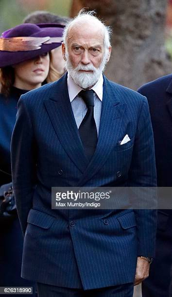 Prince Michael of Kent attends a Memorial Service for Gerald Grosvenor 6th Duke of Westminster at Chester Cathedral on November 28 2016 in Chester...
