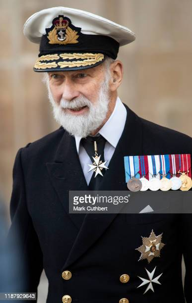 Prince Michael of Kent attends a Service of Thanksgiving for the life and work of Sir Donald Gosling at Westminster Abbey on December 11 2019 in...