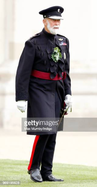 Prince Michael of Kent attends as reviewing officer the annual Founder's Day Parade at the Royal Hospital Chelsea on June 7 2018 in London England...
