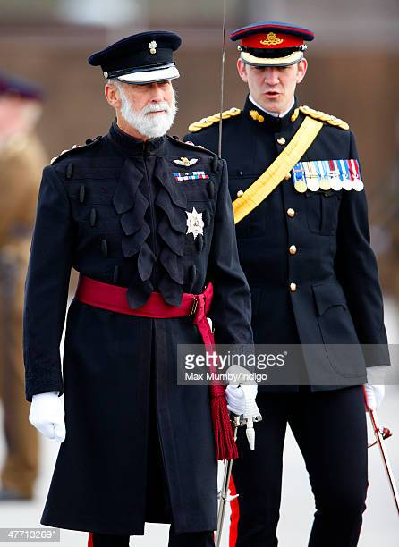Prince Michael of Kent attends the 76 Battery Royal Artillery Pass Off Parade at Alexander Barracks on March 7 2014 in Pirbright England