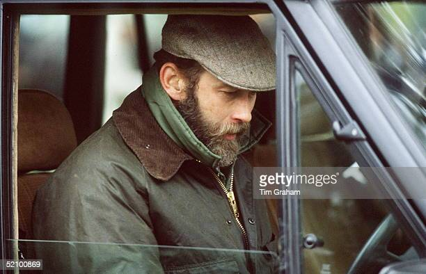 Prince Michael Of Kent Driving His Range Rover 4wheel Drive Vehicle In The Grounds Of Windsor Castle