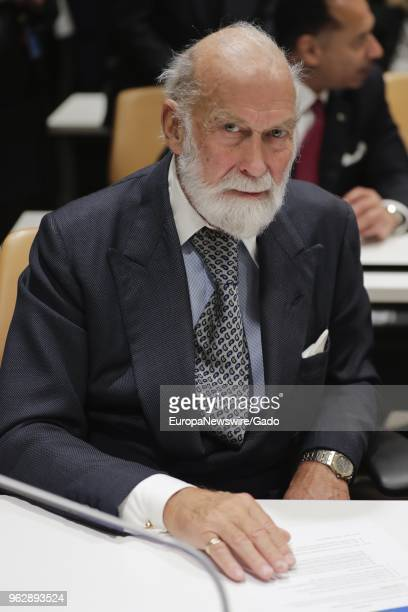 Prince Michael of Kent during the conference on the establishment of a Road Safety trust fund at the United Nations headquarters in New York City New...