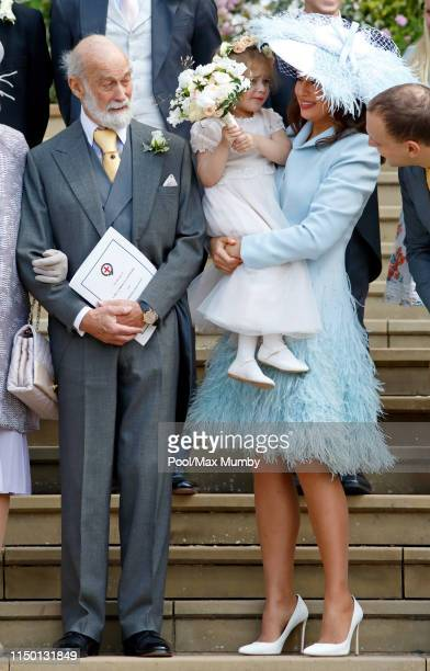 Prince Michael of Kent, Isabella Windsor and Lady Frederick Windsor attend the wedding of Lady Gabriella Windsor and Thomas Kingston at St George's...