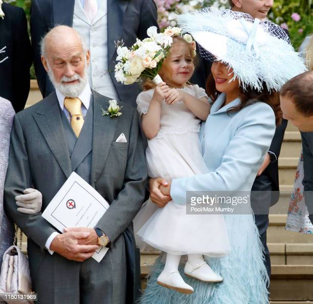 Prince Michael of Kent Isabella Windsor and Lady Frederick Windsor attend the wedding of Lady Gabriella Windsor and Thomas Kingston at St George's...
