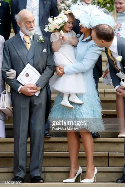Prince Michael of Kent, Isabella Windsor, Lady Frederick Windsor and Lord Frederick Windsor attend the wedding of Lady Gabriella Windsor and Thomas...