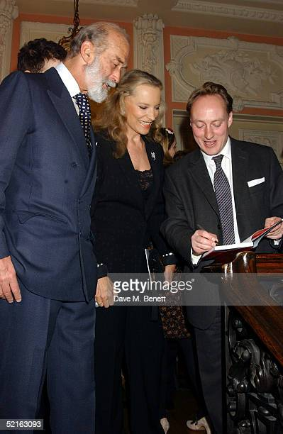Prince Michael of Kent Lord Freddie Windsor Princess Michael of Kent and writer Andrew Roberts attend the book launch for historian Andrew Roberts...