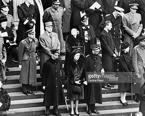 Prince Michael of Kent Princess Marina and the Duke of Kent George of England 2nd row the Archiduke Jean of Luxembourg General de Gaulle Queen...