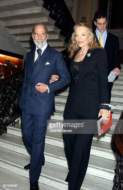 Prince Michael of Kent Princess Michael of Kent and Lord Freddie Windsor attend the book launch for historian Andrew Roberts new book Waterloo at the...