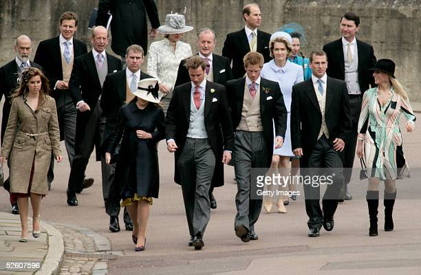 Prince Michael of Kent Viscount Linley The Duke of Kent Prince Andrew Duke of York The Duchess of Kent press secretary to Prince Charles Michael Peat...