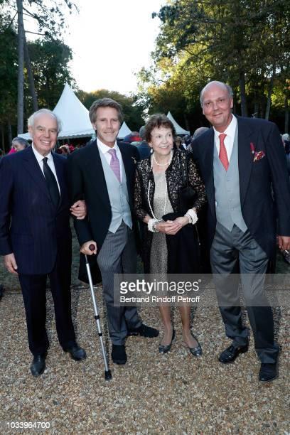 Prince Michel of Yougoslavia Prince Emmanuel Philibert de Savoie Princess Maria Pia Of Bourbon Parme and Prince Serge of Yougoslavia attend Wedding...