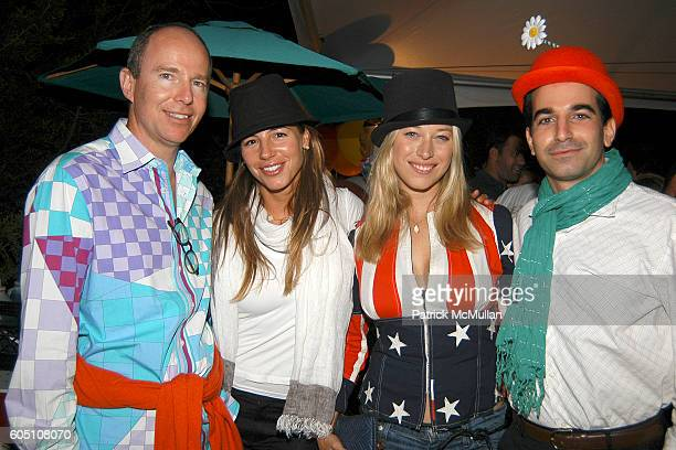 Prince Michel of Yugoslavia Nicole Kotovos Beth Kaltman and Alex Bahadori attend SUMMER CIRCUS BASH hosted by Chris Del Gatto and Fabiola Beracasa at...