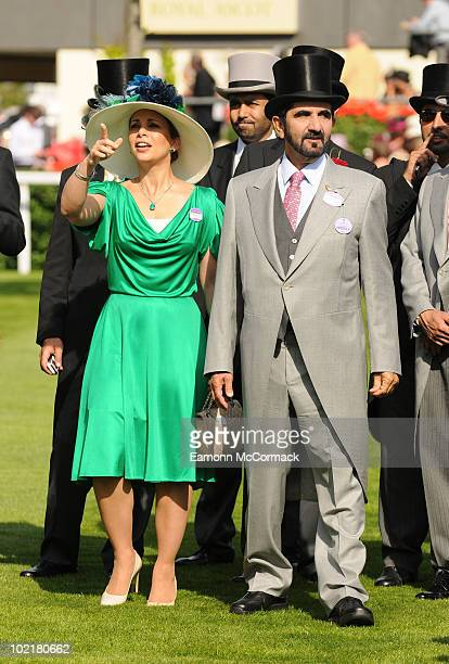 Prince Mohammed Bin Rashed Al Maktoum and Princess Haya bint Al Hussein attends Royal Ascot at Ascot Racecourse on June 17 2010 in Ascot England