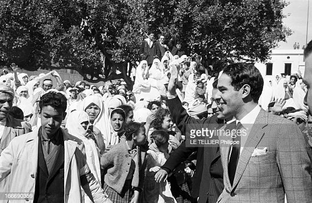 Prince Moulay Abdallah Ben Mohammed El Alaoui Of Morocco On An Official Visit To Algeria Algérie 9 mars 1963 le prince Moulay ABDALLAH BEN MOHAMMED...
