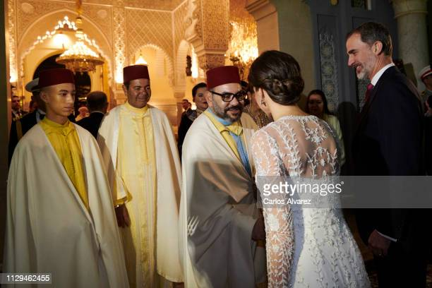Prince Moulay Hassan of Morocco, Prince Moulay Rachid of Morocco, King Mohammed VI of Morocco, Queen Letizia of Spain and King Felipe VI of Spain...
