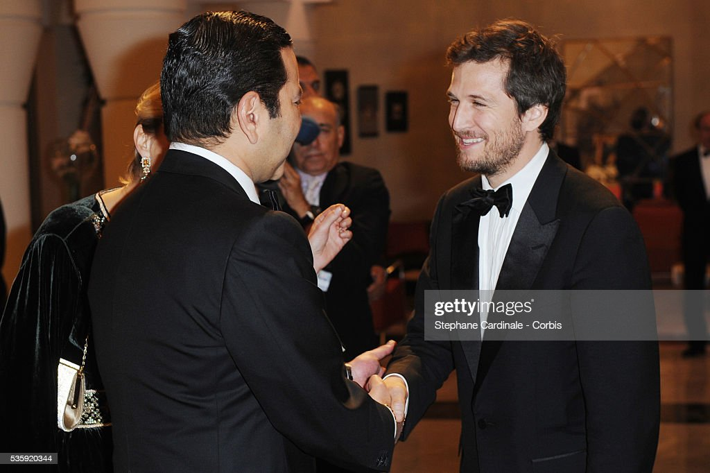 HRH Prince Moulay Rachid meets Guillaume Canet during the Marrakech 10th Film Festival.