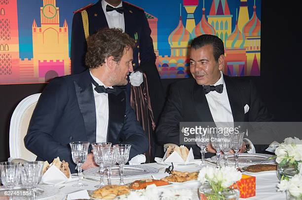 Prince Moulay Rachid of Morocco and Jason Clarke attend the royal dinner during the 16th Marrakech International Film Festival Day Two on December 3...