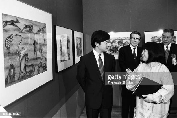 Prince Naruhito attends the African Festival on October 16 1986 in Tokyo Japan