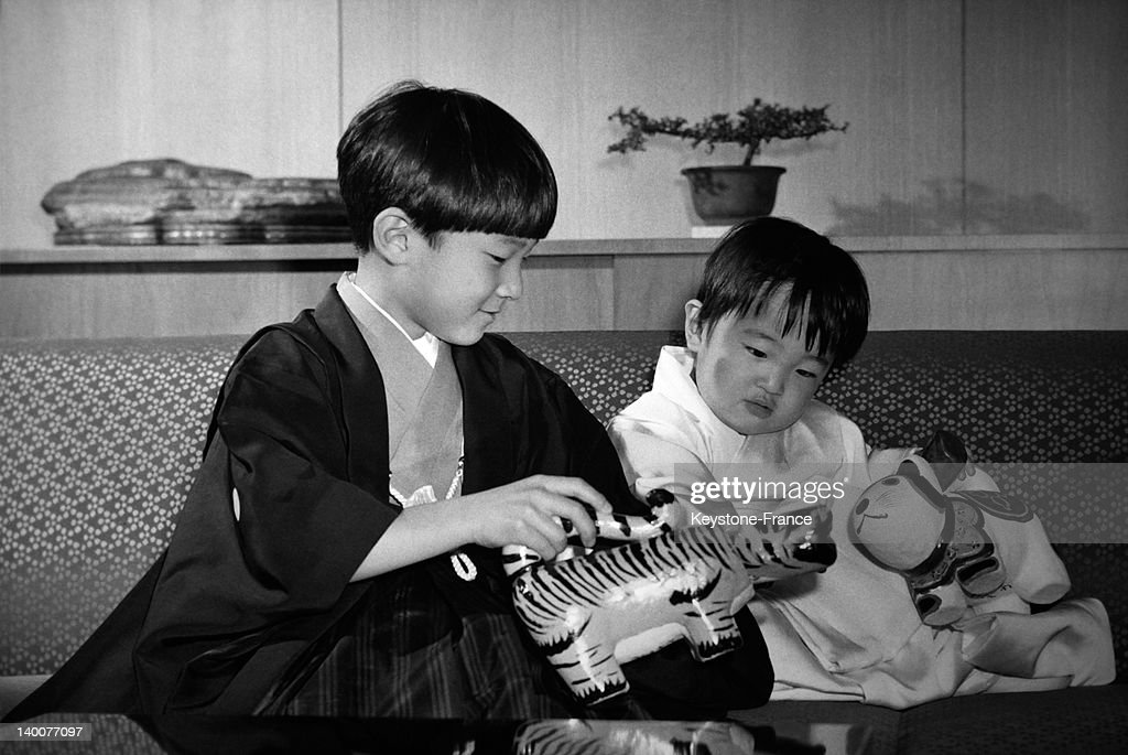 Japanese Crown Princes Naruhito And Akishino In The Sixties : ニュース写真