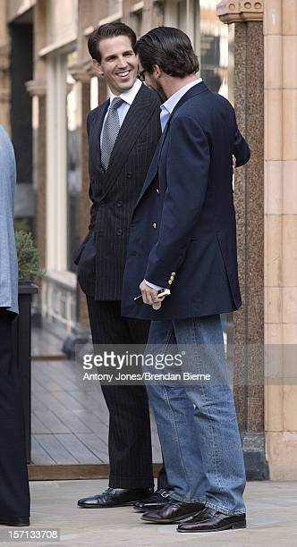 Prince Nicholas Of Greece Takes His Brother Pavlos And Parents Constantine Anne Marie For A Luncheon At Private Club 'George' In London'S Mayfair