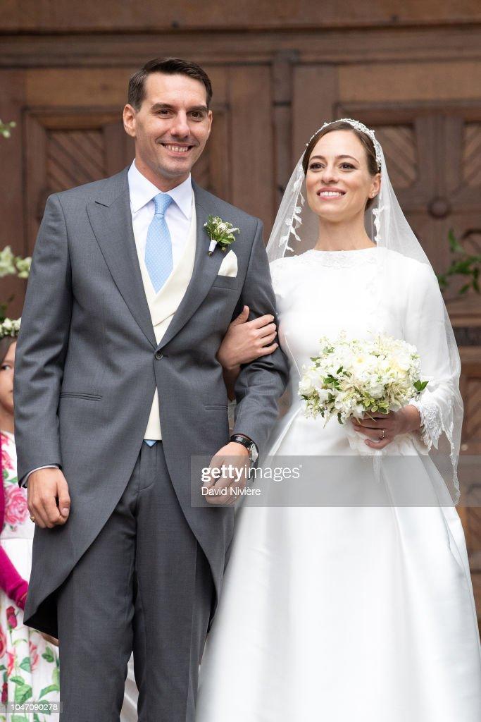 Wedding Of Prince Nicholas Of Romania And Princess Alina Of Romania In Sinaia : News Photo
