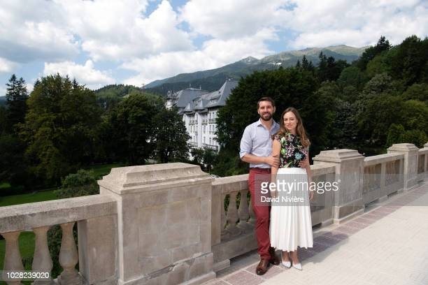Prince Nicholas Of Romania and Princess Alina Of Romania pose at the Casino Sinaia on August 05 2018 in Sinaia Romania