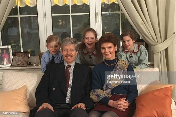 Prince Nicolas and Princess Margaretha with their three children.
