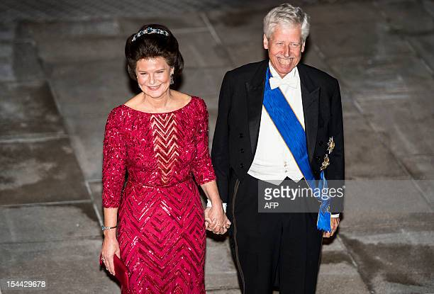 Prince Nicolaus of Liechtenstein and Princess Margaretha of Liechtenstein arrive for a gala dinner at the Grand-Ducal palace, after the civil wedding...