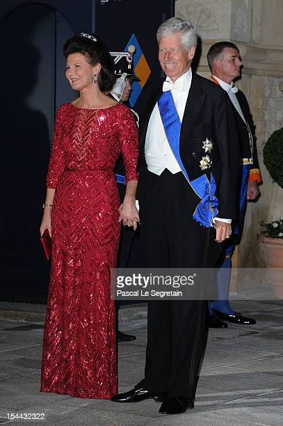 Prince Nicolaus of Liechtenstein and Princess Margaretha of Liechtenstein attend the Gala dinner for the wedding of Prince Guillaume Of Luxembourg...