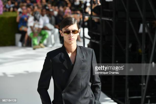 Prince Nikolai of Danemark walks the runway during the Dior Homme Menswear Spring/Summer 2019 show as part of Paris Fashion Week on June 23 2018 in...