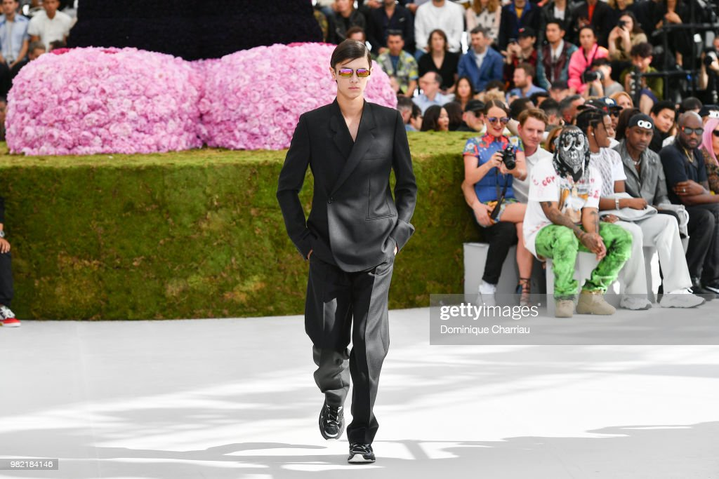 Prince Nikolai of Danemark walks the runway during the Dior Homme Menswear Spring/Summer 2019 show as part of Paris Fashion Week on June 23, 2018 in Paris, France.
