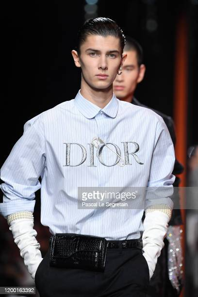 Prince Nikolai of Denmark and models walk the runway during the Dior Homme Menswear Fall/Winter 2020-2021 show as part of Paris Fashion Week on...