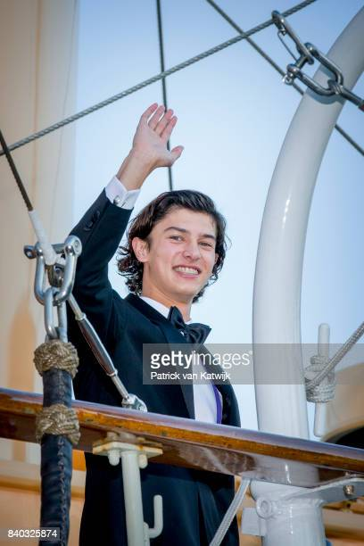 Prince Nikolai of Denmark attends his 18th birthday celebration of Prince Nikolai at royal ship Dannebrog on August 28 2017 in Copenhagen Denmark
