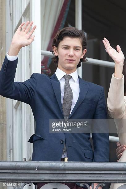 Prince Nikolai of Denmark, attends Queen Margrethe II of Denmark's 76th Birthday Celebration at Amalienborg Palace, on April 16 in Copenhagen, Denmark