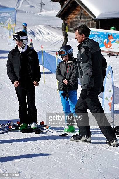 Prince Nikolai of Denmark Prince Felix of Denmark and Prince Joachim of Denmark attend the Danish Royal family annual skiing photocall whilst on...
