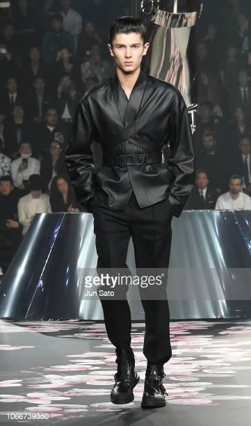 Prince Nikolai of Denmark walks runway during the Dior Pre-Fall 2019 Men's Collection show on November 30, 2018 in Tokyo, Japan.