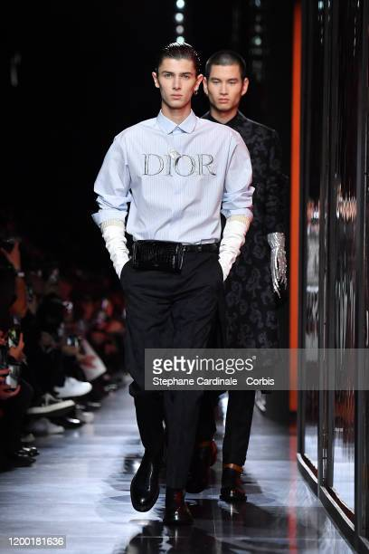 Prince Nikolai of Denmark walks the runway during the Dior Homme Menswear Fall/Winter 2020-2021 show as part of Paris Fashion Week on January 17,...