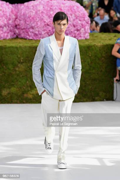 Prince Nikolai of Denmark walks the runway during the Dior Homme Menswear Spring/Summer 2019 show as part of Paris Fashion Week on June 23, 2018 in...