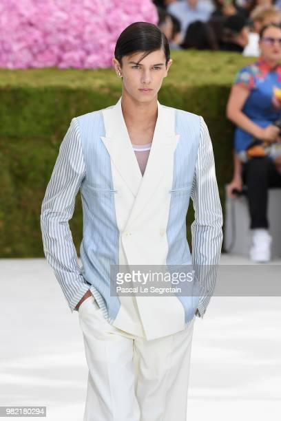 Prince Nikolai of Denmark walks the runway during the Dior Homme Menswear Spring/Summer 2019 show as part of Paris Fashion Week on June 23 2018 in...