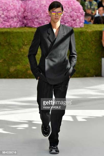 Prince Nikolai of Denmark walks the runway during the Dior Homme Menswear Spring/Summer 2019 fashion show as part of Paris Fashion Week on June 23...