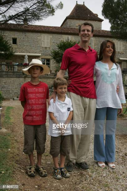 Prince Nikolai, Prince Felix, Prince Joachim of Denmark and Princess Marie of Denmark spend their summer holidays at the family home at Chateau Caix...