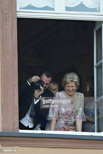 Prince Nikolaos, And His Mother Queen Anne Marie Of Greece Attend The Wedding Of Princess Nathalie Of Sayn-Wittgenstein -Berleburg, To Alexander...